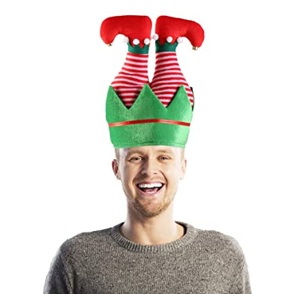 94eed20e323a9 Image Unavailable. Image not available for. Color  Christmas Elf Hat ...