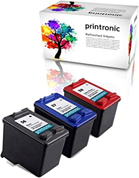 2 Black, 1 Tri-Color, 3 Pack Photosmart 7150 7260 7350 7960 PSC 2510 Printer AYYBEE Remanufactured Ink Cartridge Replacement for HP 56 /& 57 C9321BN C6656AN C6657AN for Deskjet 5650 5850 5150