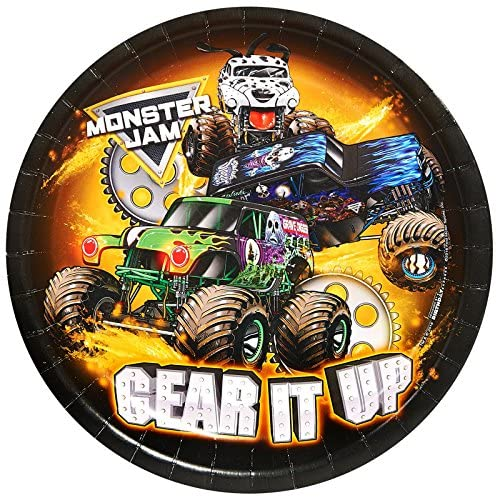 Monster Jam Party Supplies - Dinner Plate (24)