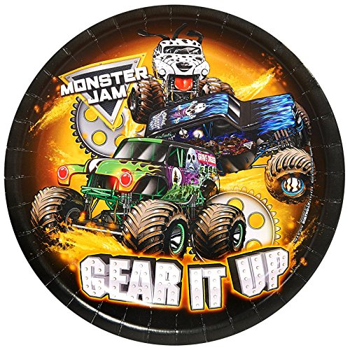 BirthdayExpress Monster Jam Party Supplies - Dinner Plate (24) ()