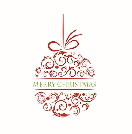Merry Christmas Vinyl Wall Stickers Decals Shop Decoration Window ...