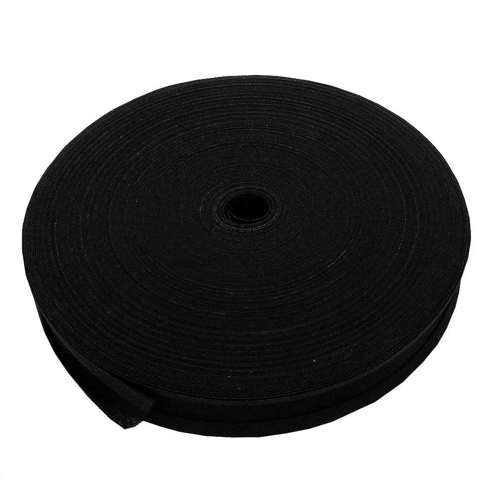 25mm Bias Binding Tape Trim 100% Cotton - Black - 10m The Bead Shop