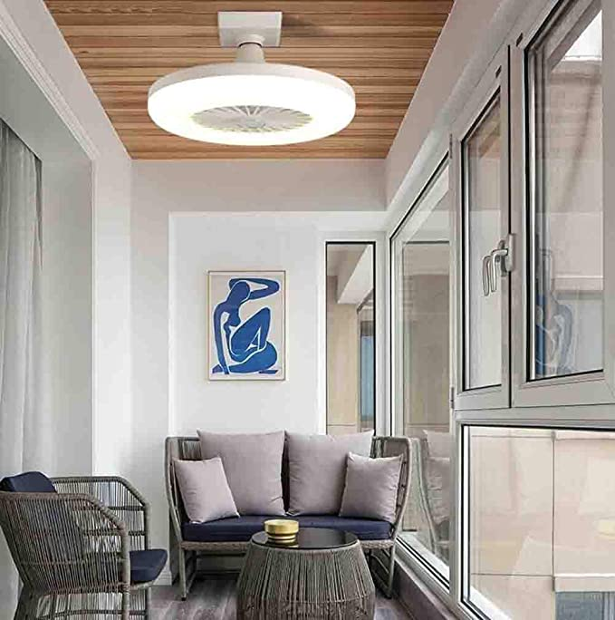 Kreative Modernen Haushalt E27 Lampen-Kopf-Ventilator-Licht Nicht Dimmbar White JXILY Deckenventilator Mit Beleuchtung LED-L/üfter Deckenventilator 1 Datei Modern Schlafzimmer 11.8In
