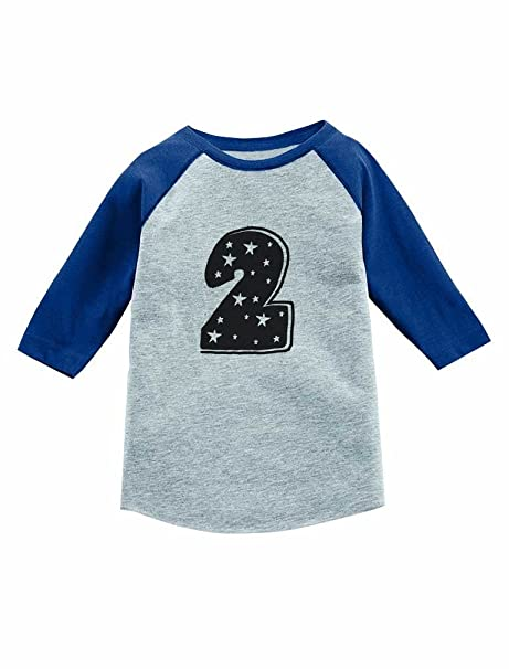 Amazon Im 2 Years Old Superstar Birthday Gift 3 4 Sleeve Baseball Jersey Toddler Shirt Clothing