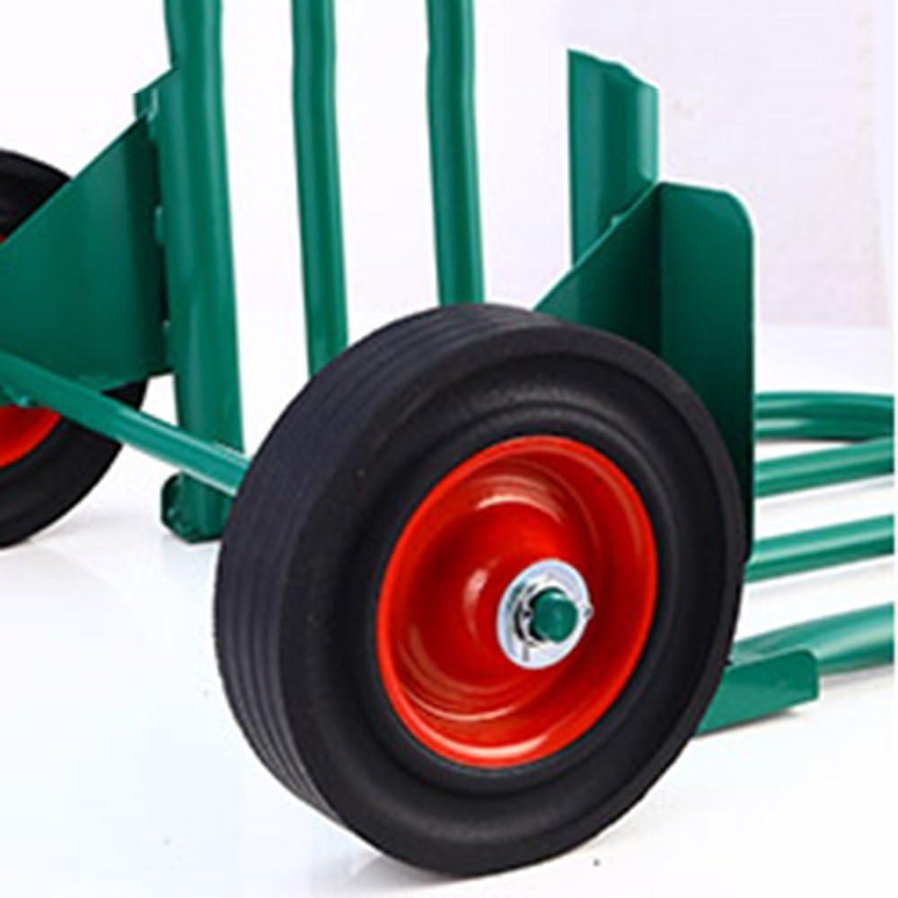 Green Collapsible Grocery Warehouse DNSJB Heavy Duty Steel Truck Trolley