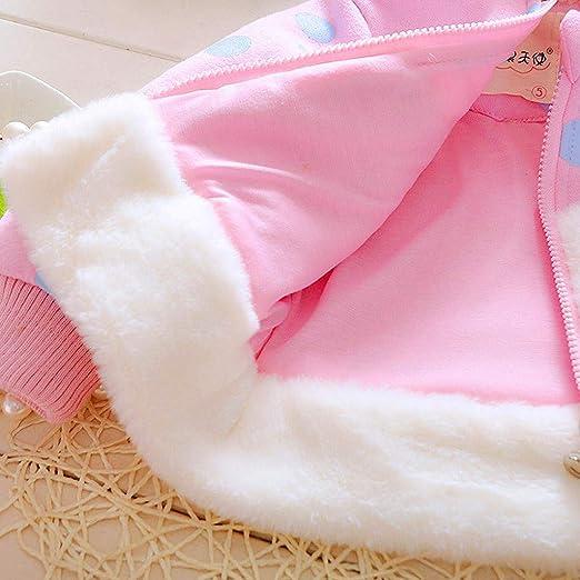 VICGREY Bambino Giacca Ragazza Giacche con Cappuccio Orecchie di Coniglio Cappotto di Inverno della Pelliccia della Neonata Giacca Vestiti Caldi Spessi Abbigliamento Giacche E Cappotti 1-5 Anni