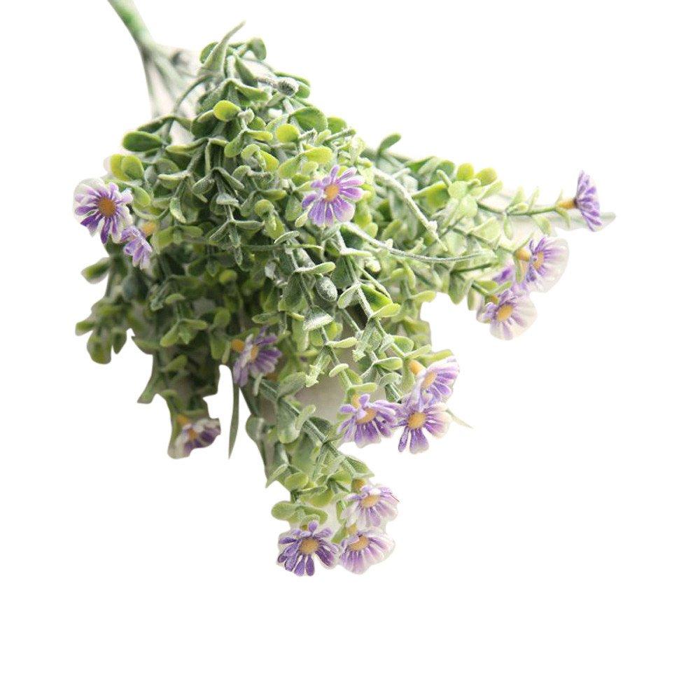 (ボトロン) Botrong 造花 野生の菊の花 ウェディングブーケ ホームデコレーション Size:Height: 34.5cm パープル B07MPVWTCP パープル