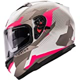 Orthrus Orion Series Full-Face Street Bike Cruiser Motorcycle Helmets with Drop-Down Inner Sun Shield DOT Pinlock Compatible