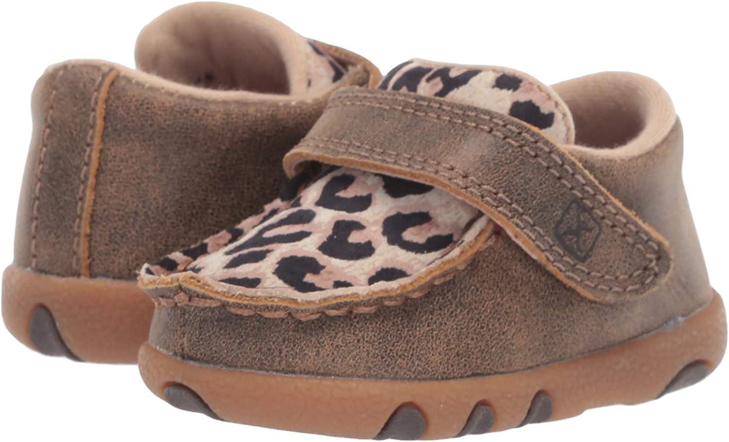 6 Medium Bomber//Multi TWISTED X Kids Driving Handcrafted Leather Casual Moccasins