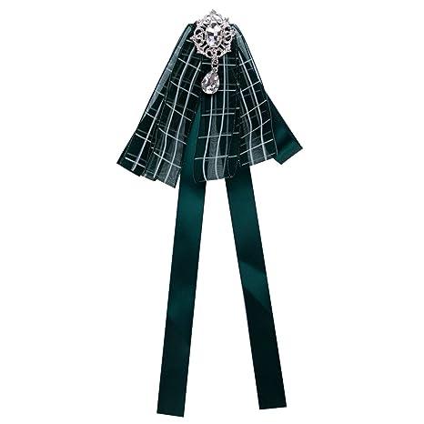 Corbata de lazo de satén negro con lazo de lazo, broche para ...