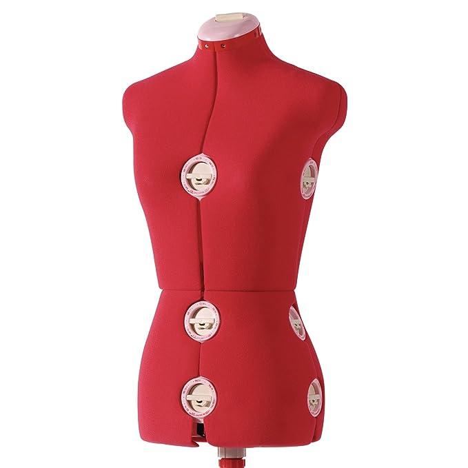 Amazon Com Singer 12 Dial Adjustable Dress Form Large Red Arts
