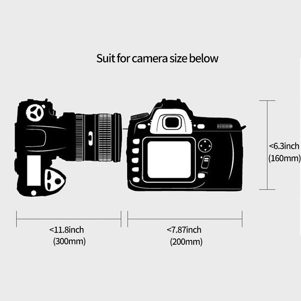 WZT Professional Camera Waterproof Rain Cover for Canon Nikon Pentax DSLR Cameras Shield, Great for Rain Dirt Sand Snow Protection