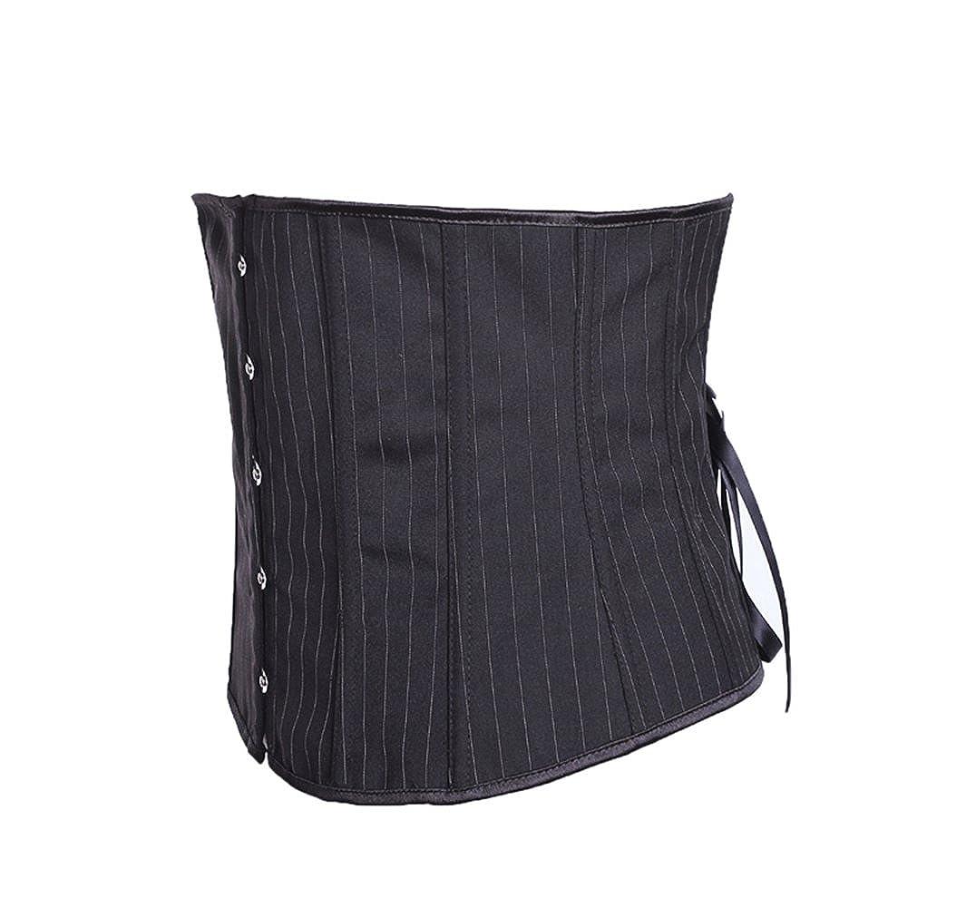 78197c5d3b Amazon.com  Women s Spiral Steel Boned Corset Hollow Waist Cincher  Underbust Corset Body Shapers  Clothing
