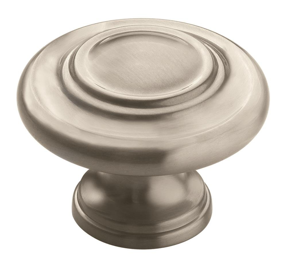 Amerock BP15862G10 Inspirations 3-Ring Round Cabinet Knob, 31.75 Mm Projection, 1-3/4 In Dia Satin Nickel