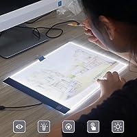 Delleu A4 LED Copy Station Drawing Copy Tracing Caja de luz USB Rechargeable Art Stencil Boards Tattoo Tracing Plat