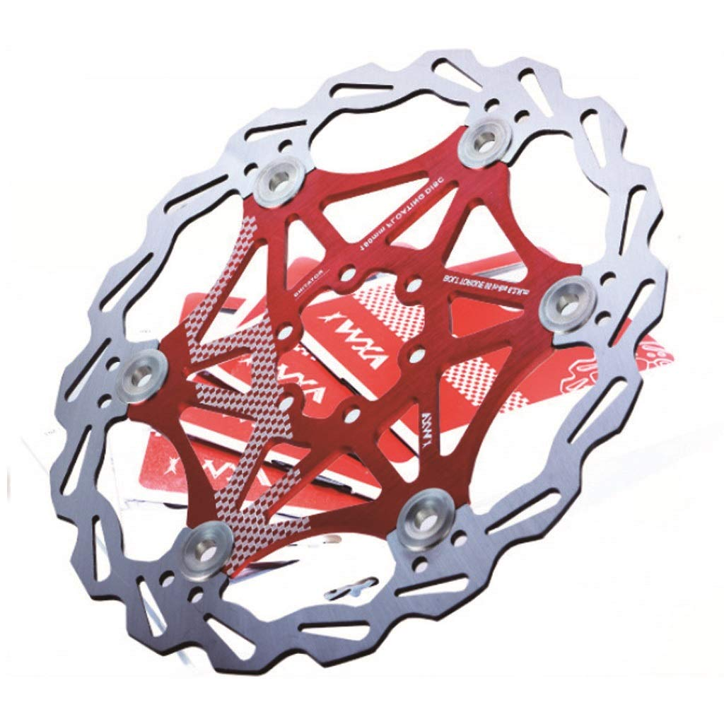 DISCXUAN Rotor de freno de disco de bicicleta para la mayor/ía de las bicicletas Bicicleta de carretera Bicicleta de monta/ña BMX MTB 160 mm 180 mm 203 mm Rotor de freno de disco flotante 6 tornillos Al