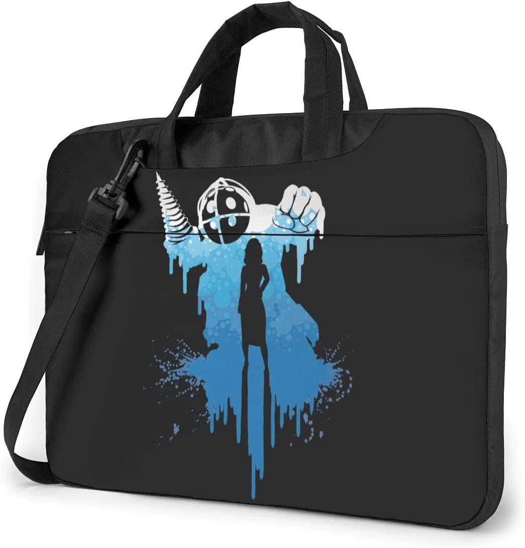JuaoHuan Bioshock Laptop Shoulder Messenger Bag Case Briefcase Sleeve for 13 Inch 14 Inch 15.6 Inch Laptop Case 15.6 Inch