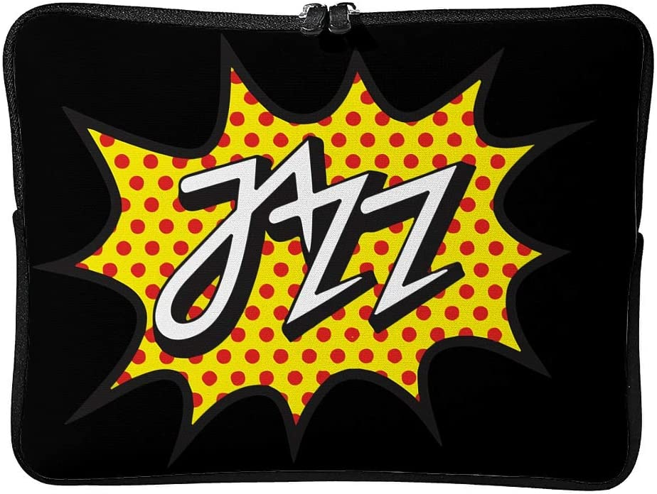 Jazz Lover Tablet Cover Suitable for Outdoor White 10inch Laptop Bags Jazz Casual 5 Sizes Scratch-Resistant