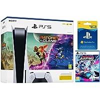 PlayStation 5 - PS5 Standard Ratchet & Clank + Suscripción PlayStation Plus 365 + Destruction AllStars [Bundle]