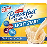 Carnation Breakfast Essentials Light Start Powder Drink Mix, Classic French Vanilla, 8-Count Box (Pack of 8 Boxes)