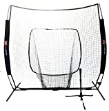 NEW One More 7' x 7' Portable Pop-Up Net & Heavy Duty 6.5lb Tripod Batting Tee Combo Baseball & Softball Hitting Practice