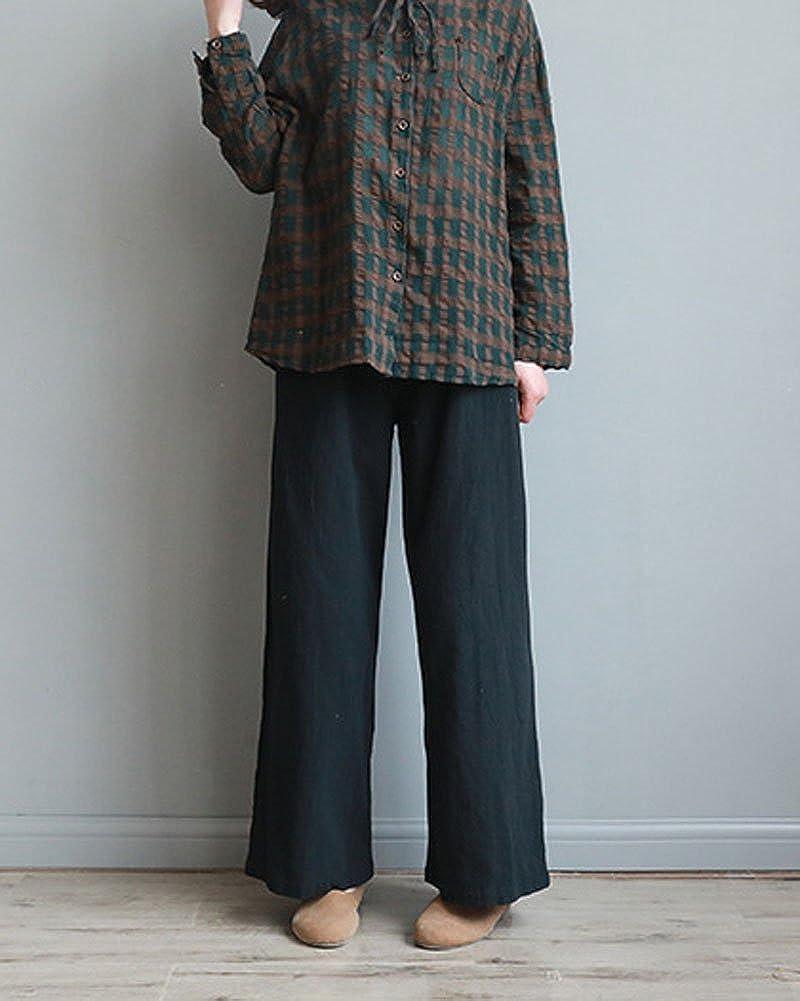 Minetom Donne in Alto alla Vita Regolare Occasionale Chiffon Harem Matita Pantaloni Cordoncino Vita i Pantaloni Beige