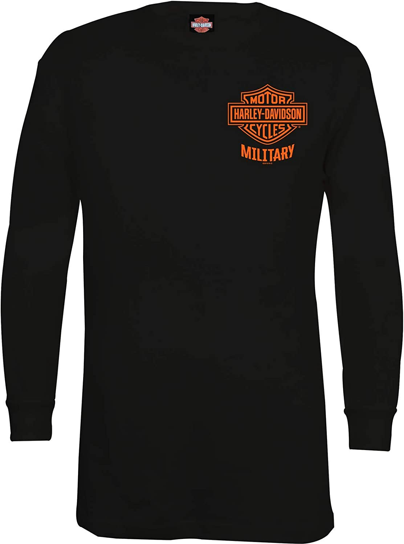 HARLEY-DAVIDSON Military - Men's Black Bar & Shield Long-Sleeve Thermal Shirt - Overseas Tour