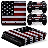 MODFREAKZ™ Console and Controller Vinyl Skin Set - American Flag for PS4 Pro