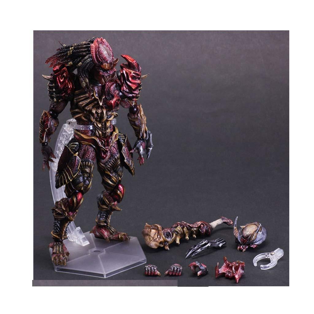 NYDZDM Modelo de juguete Craft Iron Warrior Predator con Soporte Anime Modelo de componente de Juguete