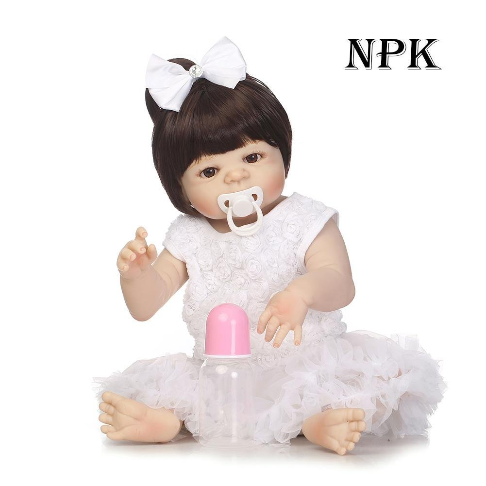 chinatera NPK Simulation Artificial Waterproof Soft Silicone Reborn Baby Dolls Lifelike Infants Girl Doll Toys Photographic Prop by chinatera (Image #2)