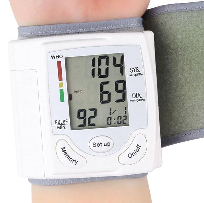 WAOBE Tipo automático de la muñeca Sphygmomanometer electrónico inglés portátil Hogar Instrumentos de medición verdaderos de la tensión arterial verdaderos ...