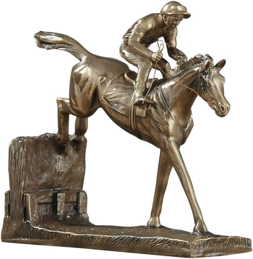 SH-CHEN Figurine Ornaments Gifts Home Decor Accents European Style Jockey Equestrian Athlete Sculpture Resin Crafts Decorations