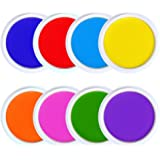 GooMart 8 Colors Washable Large Ink pads for Rubber Stamps Kids