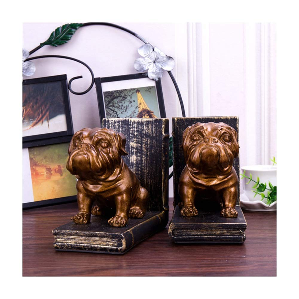 Yaohai Home Decoration Accessories Bookend Resin Animal Puppy Figurines Puppy Bookend Model Miniature Creativity Handwork Classic (Color : Coffee) by Yaohai