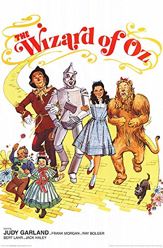 The Wizard of Oz Retro Classic Musical Movie Film Poster Print (UNFRAMED 24X36)