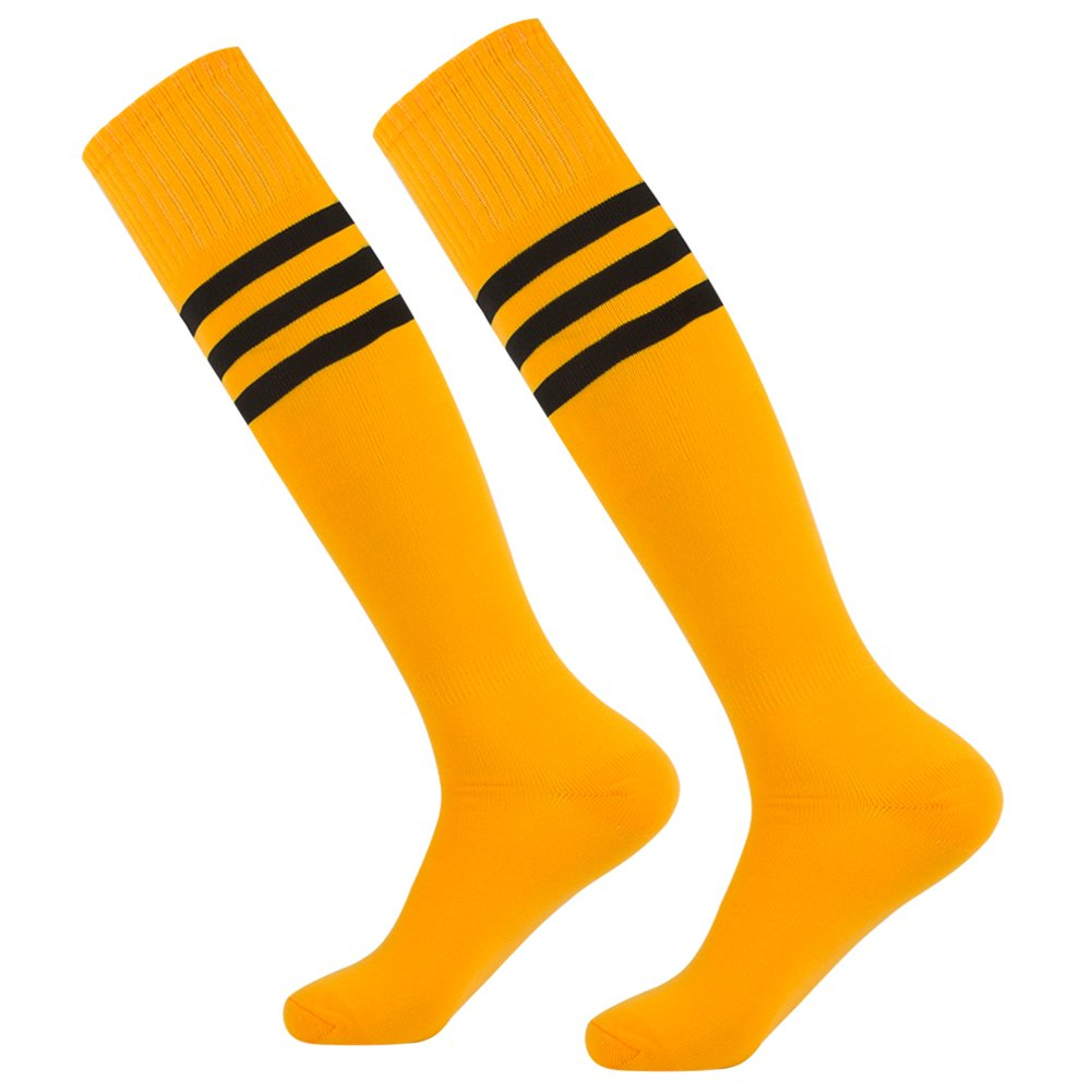Dodove Soccer Sports Socks Unisex Knee High Triple&Classic Plain Athletic 2-12 Pairs by Dodove