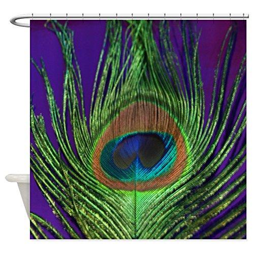"CafePress Purple Foil Peacock Shower Curtain Decorative Fabric Shower Curtain (69""x70"")"