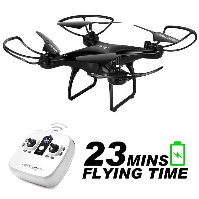 allcaca RC Drohne RC Quadrocopter 23 Minuten Lange Akkulaufzeit mit LED-Leuchten, 3D Flip Kopflos Modus One Key Start Landung