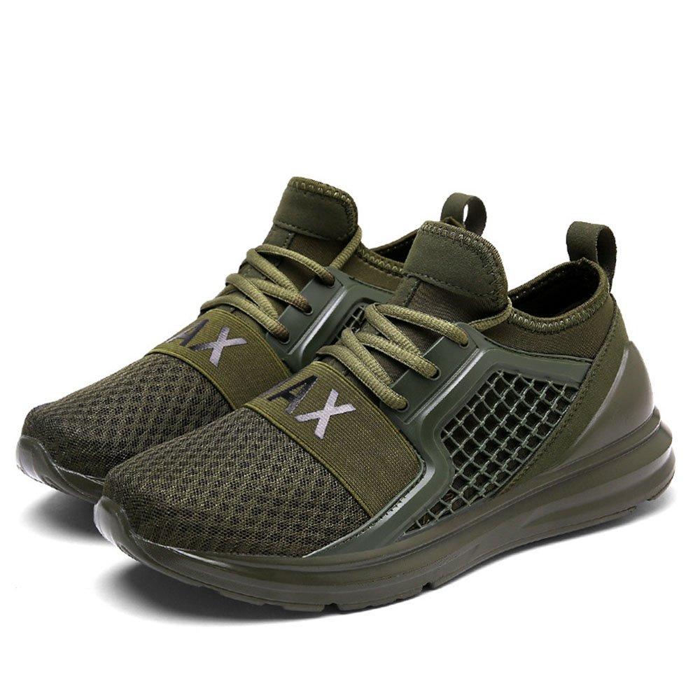 FLYMD Running Shoes Sneaker de Primavera y Verano, Zapatos Corrientes de Malla Transpirable para Hombres (24.5-27.0cm) Sneakers for Men (Color : Verde, tamaño : 41 1/3 EU) 41 1/3 EU|Verde