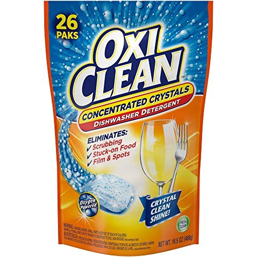 OxiClean Fresh Clean Dishwasher Detergent Paks, 26 count, 16.5 oz (Dishwasher Crystals compare prices)
