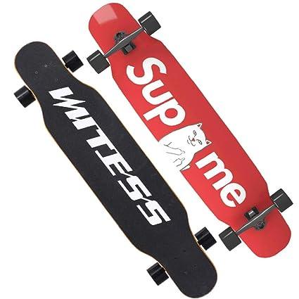 Weiyue patineta- Skateboard para Principiantes Longboard Adultos para niños y niñas Junta de Baile para