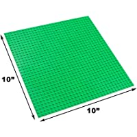 "EduToys Base Plastic Plate Board (Green, 10"" x 10"") for Building Blocks Bricks"