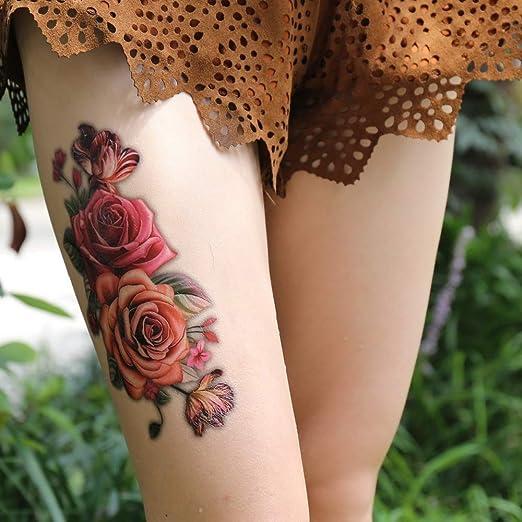 tzxdbh Hot Indian Árabe Falso Tatuajes Temporales Pegatinas 3D ...