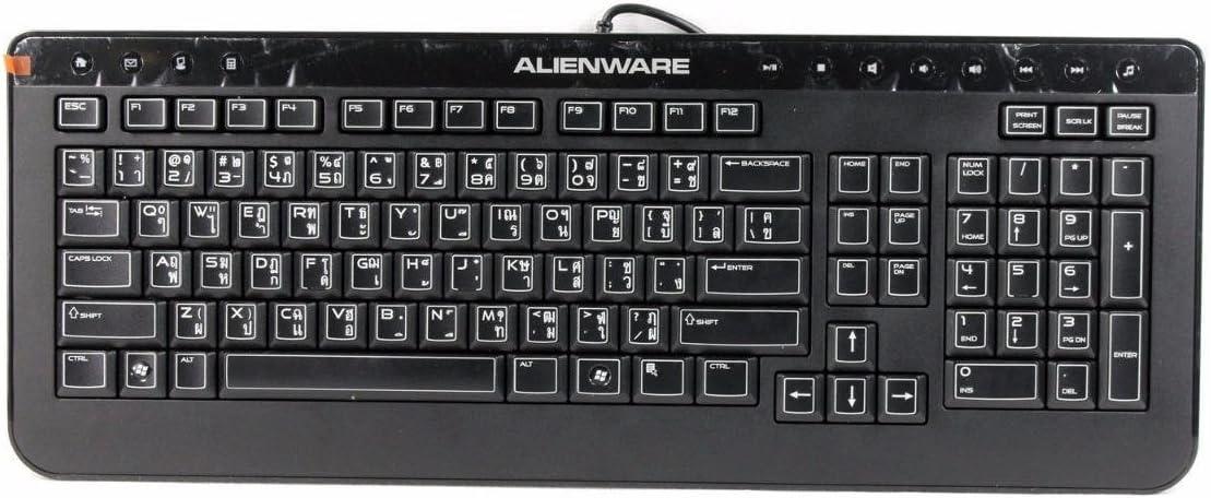 Dell Alienware Black Wired USB Keyboard SK-8165 KXP9G