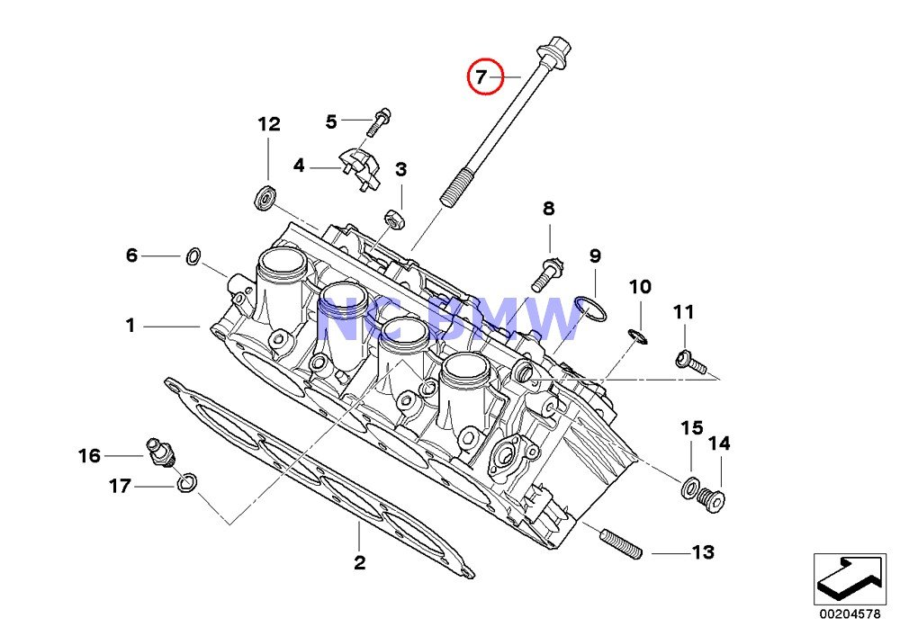 4 X BMW Genuine Motorcycle Cylinder Head Bolt M10X117 A15 K1200S K1300S K1200R K1200R Sport K1300R K1200GT K1300GT