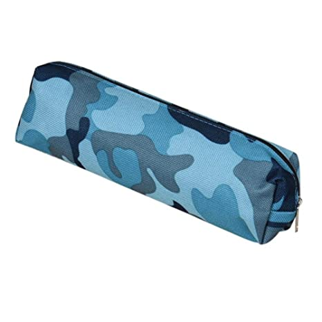 Amazon.com: Large-Capacity Pencil Case Camouflage Leather ...
