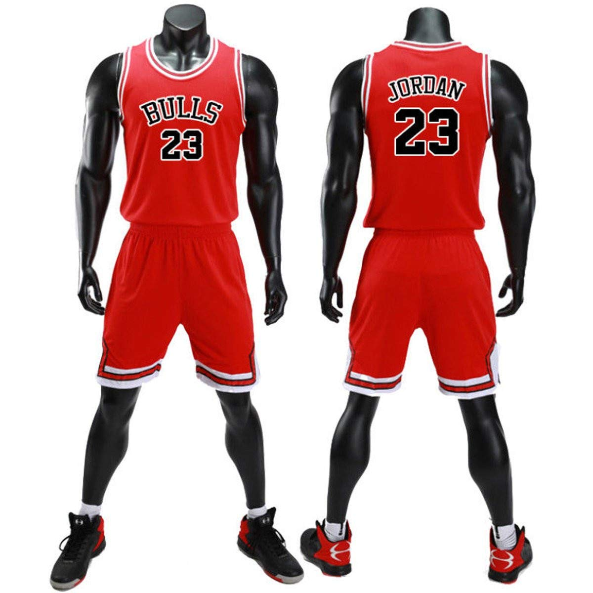 Faith Wings Hommes Adulte NBA Bucks Antetokounmpo34 Lakers Bryant24/James23 Bulls Jordan 23 Maillot Basketball Jersey Basket Maillots Short de Basket Uniforme Top Nouveau Tissu Brodé Vêtements Fantaisie et Specialty