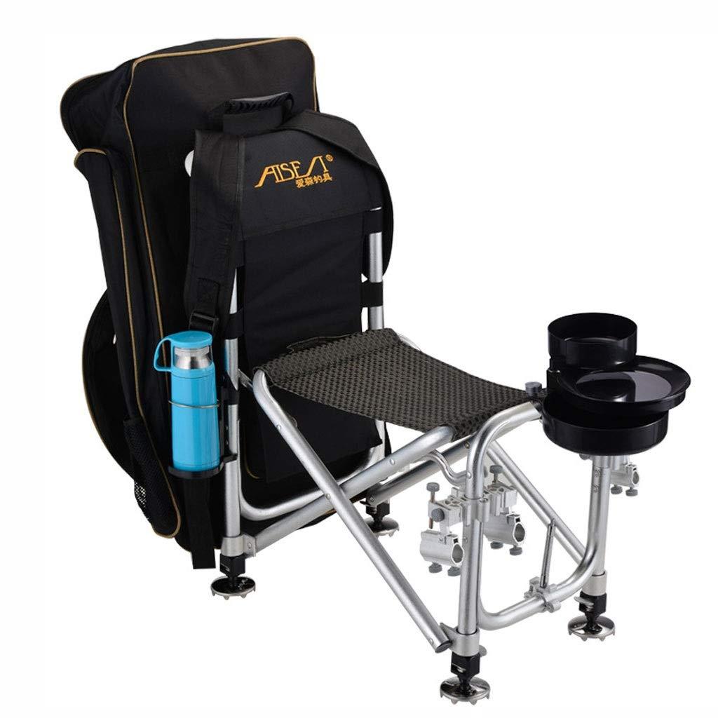 YYZDY12 Chaise de pêche Chaise de pêche Chaise de Pliage extérieure pour Adulte en Alliage d'aluminium multifonctionnelle (Taille   G)  G