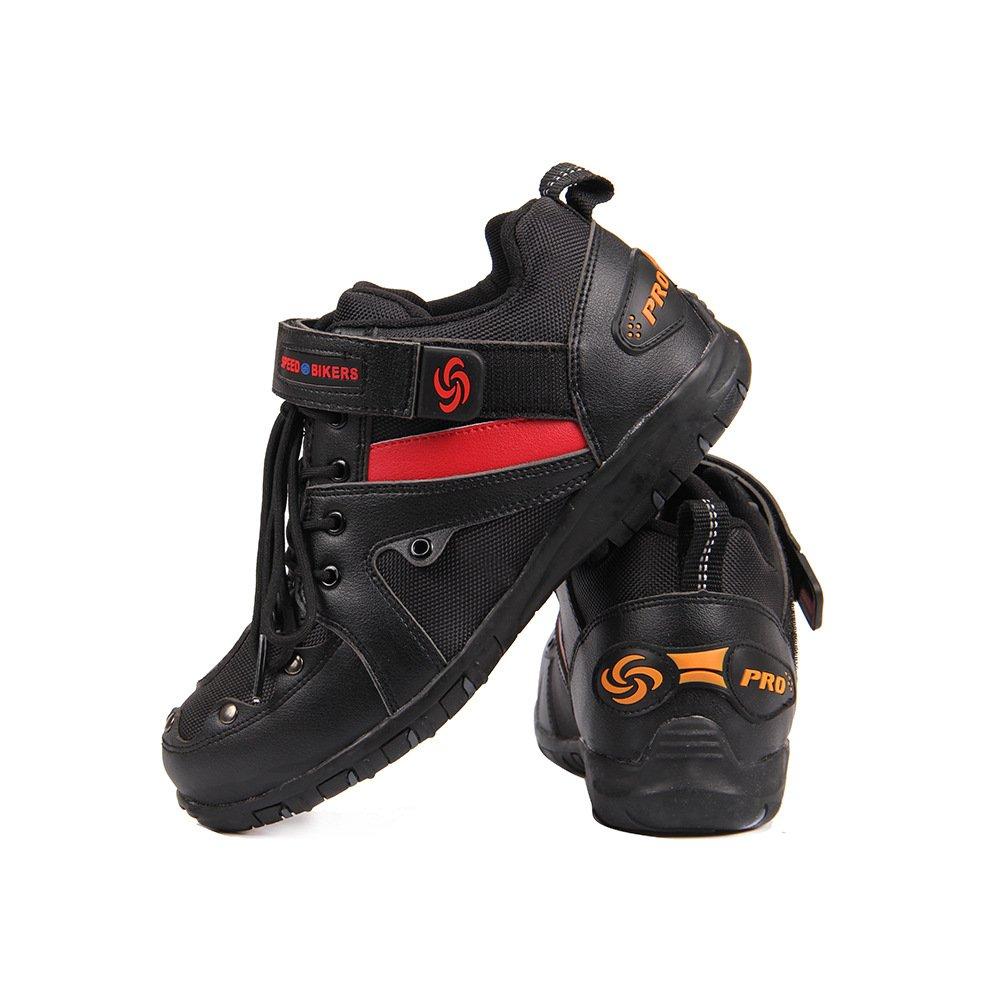 LKN Moto Cuir Neutre Motocross d/équitation Chaussures Bottes Courtes Moto