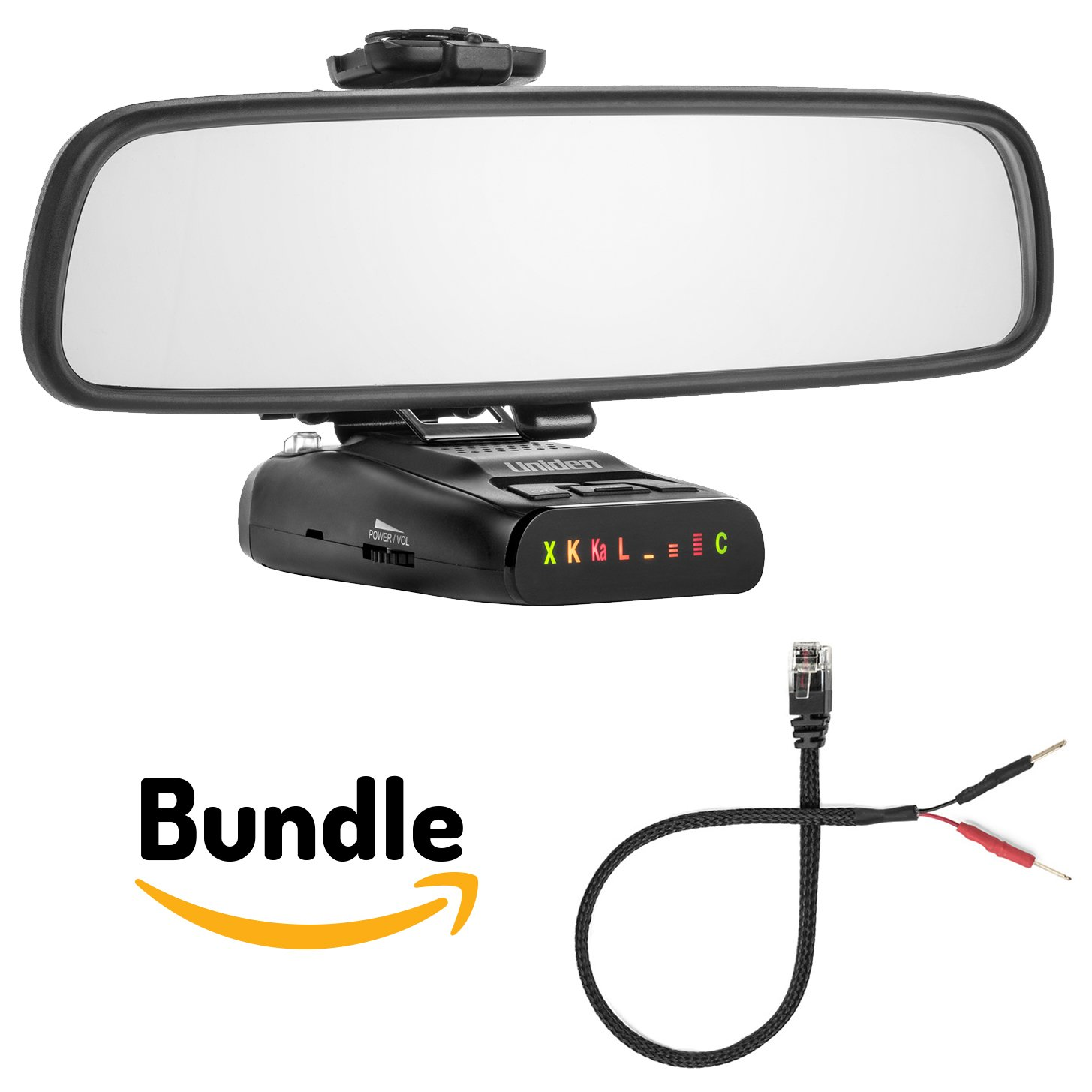 Radar Mount Mirror Mount Bracket + Mirror Wire Power Cord for Uniden (3001109)